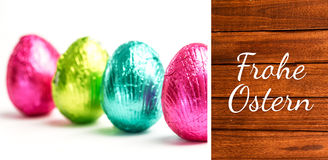Composite image of frohe ostern Stock Photography