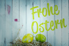Composite image of frohe ostern Stock Images