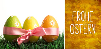 Composite image of frohe ostern Royalty Free Stock Photo