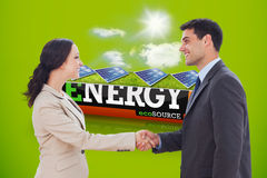 Composite image of future partners shaking hands Stock Image