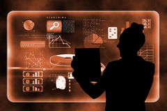 Composite image of futuristic technology interface Royalty Free Stock Photos