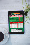 Composite image of gambling app screen Royalty Free Stock Image