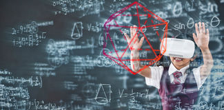 Composite image of geometry problem Royalty Free Stock Photo
