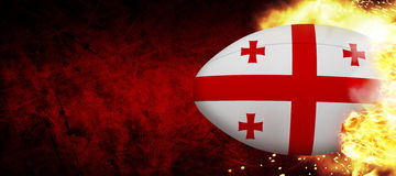 Composite image of georgia rugby ball Stock Photo