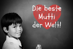 Composite image of german mothers day message Stock Photography