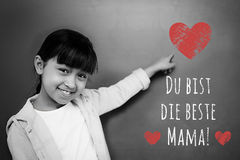 Composite image of german mothers day message stock illustration