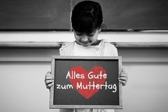 Composite image of german mothers day message Royalty Free Stock Photo
