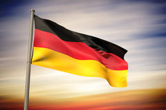 Composite image of germany national flag Royalty Free Stock Image