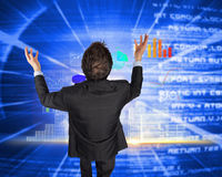 Composite image of gesturing businessman Royalty Free Stock Images