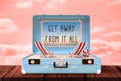 Composite image of get away from it all Stock Photo