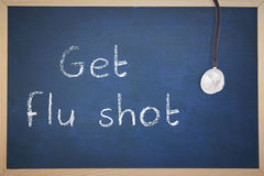 Composite image of get your flu shot Stock Photos