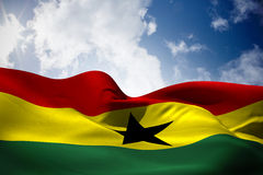 Composite image of ghana flag waving Stock Images