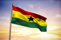 Composite image of ghana national flag Stock Photos