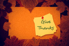Composite image of give thanks Stock Photos