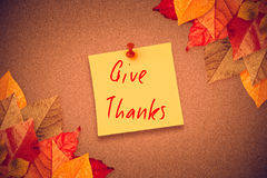 Composite image of give thanks Stock Images