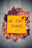 Composite image of give thanks Royalty Free Stock Images