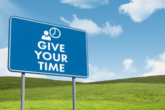 Composite image of give your time Stock Image