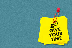 Composite image of give your time Royalty Free Stock Photo