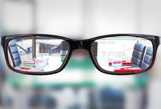 Composite image of glasses Stock Photo
