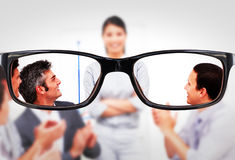 Composite image of glasses Stock Photos