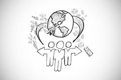 Composite image of global community doodle Stock Photo
