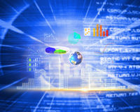 Composite image of global technology background Stock Photo