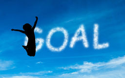 Composite image of goal written in white in sky Stock Photography