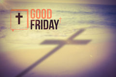 Composite image of good friday logo Royalty Free Stock Images