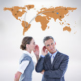 Composite image of gossiping business team Royalty Free Stock Photo