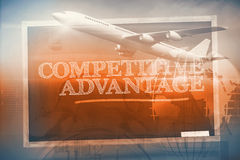 Composite image of graphic airplane Royalty Free Stock Image