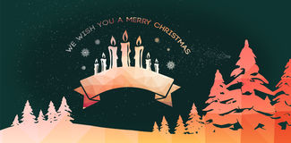 Composite image of graphic christmas message with candles Stock Photos