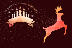 Composite image of graphic christmas message with candles Royalty Free Stock Photos