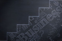 Composite image of graphic image of business text with graph Royalty Free Stock Photography