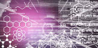 Composite image of graphic image of chemical formulas Royalty Free Stock Image