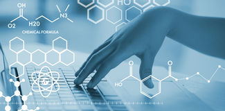 Composite image of graphic image of chemical formulas Royalty Free Stock Photo