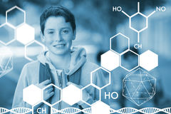 Composite image of graphic image of chemical structure Stock Photo
