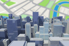Composite image of graphic image of cityscape 3d. Graphic image of cityscape against vignette 3d Royalty Free Stock Photo