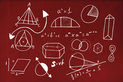 Composite image of graphic image of geometric shapes Royalty Free Stock Photos