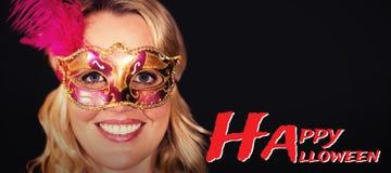 Composite image of graphic image of happy halloween text Stock Photo