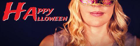 Composite image of graphic image of happy halloween text Royalty Free Stock Image