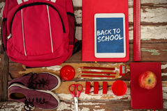 Composite image of graphic image of red back to school text Royalty Free Stock Images