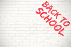 Composite image of graphic image of red back to school text Royalty Free Stock Photo