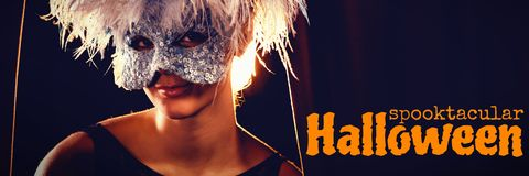 Composite image of graphic image of spooktacular halloween text Royalty Free Stock Photos