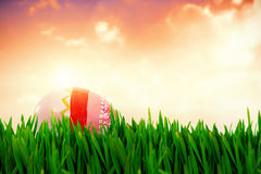 Composite image of grass growing outdoors Stock Photo