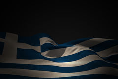 Composite image of greece flag waving Royalty Free Stock Photos