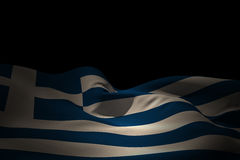 Composite image of greece flag waving Royalty Free Stock Photo