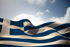 Composite image of greece flag waving Royalty Free Stock Photography