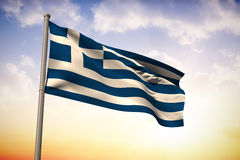 Composite image of greece national flag Royalty Free Stock Photo