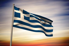 Composite image of greece national flag Royalty Free Stock Image