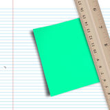 Composite image of green paper Stock Image